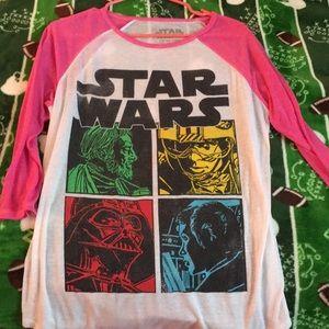 Star Wars long sleeved tee shirt